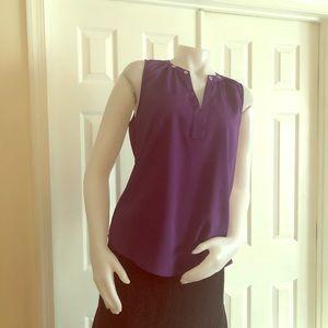 NY & Company Purple Shirt Medium